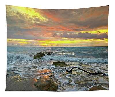 Colorful Morning Sky And Sea Tapestry