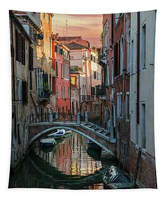 Tapestry featuring the photograph Colorful Postard From Venice by Jaroslaw Blaminsky
