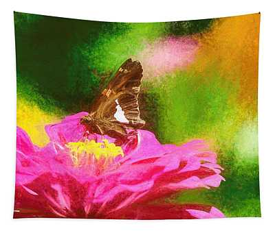 Colorful Silver Spotted Skipper Butterfly Tapestry