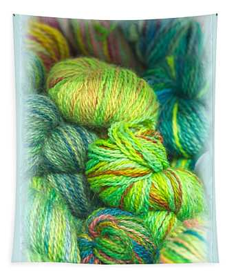 Colorful Skeins Of Yarn Tapestry