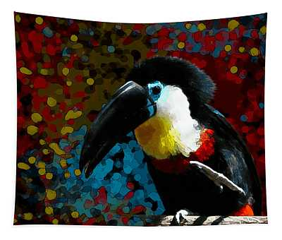 Colorful Toucan Tapestry