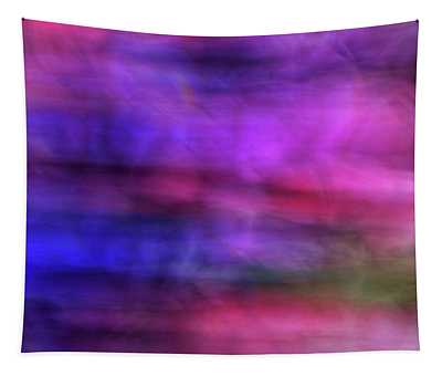 Colorful Watercolor Abstract Art With Pinks Purples And Greens Tapestry