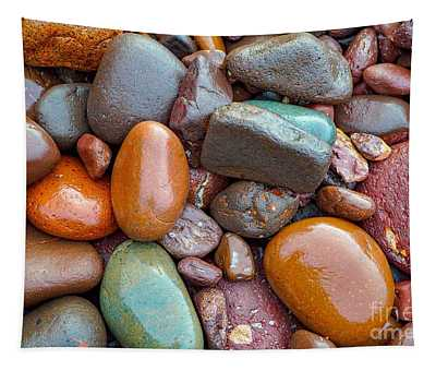 Colorful Wet Stones Tapestry