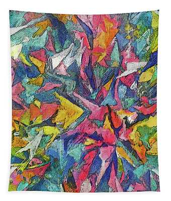 Colored Shards Tapestry