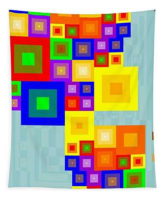 Colourful Cubism  Tapestry