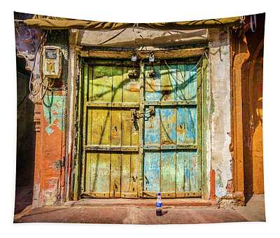 Colourful Doors Agra Tapestry