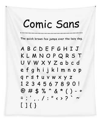 Comic Sans - Most Wanted Tapestry