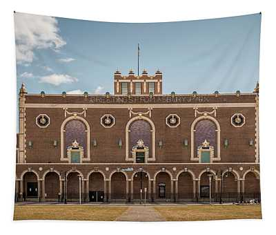 Tapestry featuring the photograph Convention Hall by Steve Stanger