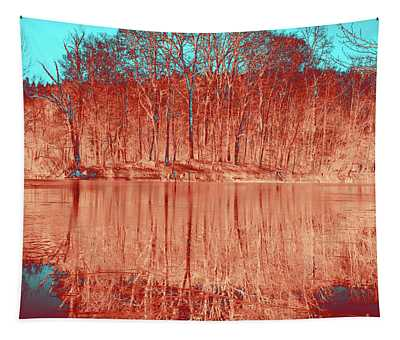 Coral Meditative Power Of Trees Tapestry