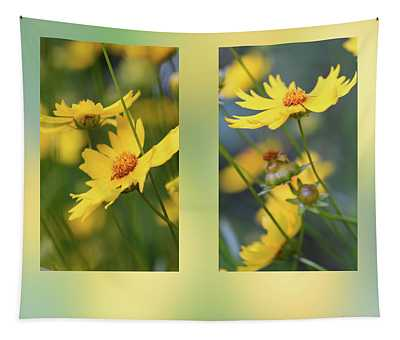 Coreopsis Flowers Tapestry