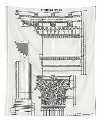 Corinthian Architecture Tapestry