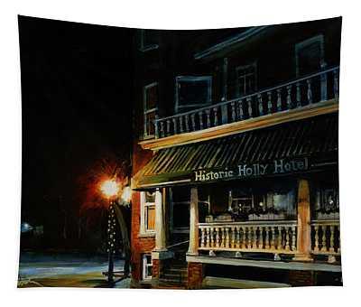Corner Light Tapestry