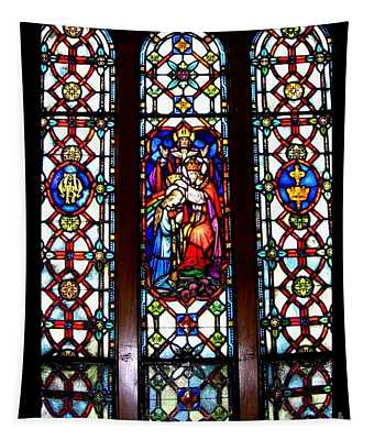 Coronation Of The Blessed Virgin Mary Stained Glass Window Saint Marys Pennsylvania Tapestry