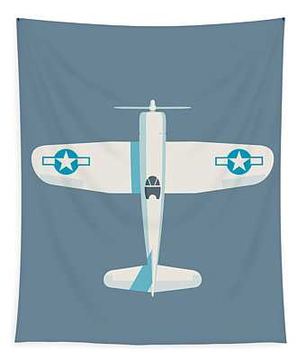 Corsair Fighter Aircraft - Slate Tapestry