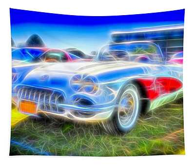 Corvette Electrified Tapestry