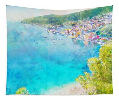 Cote D'azur, Villefranche Sur Mer, French Riviera 1 Tapestry