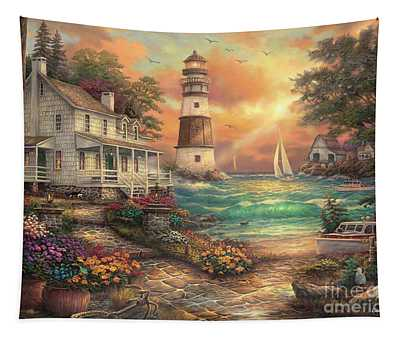 Cottage By The Sea Tapestry