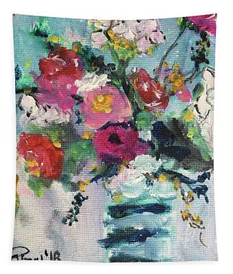 Cotton And Roses Tapestry