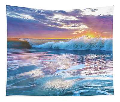 Cotton Candy Sunrise Surf Tapestry