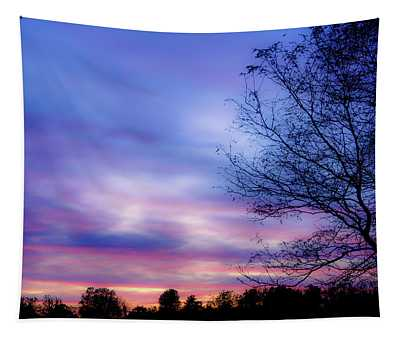 Cotton Candy Sunset In October Tapestry