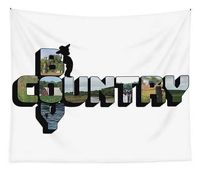 Country Boy Big Letter Tapestry