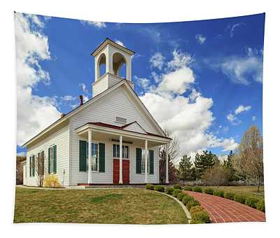 Country Farmhouse Church Tapestry