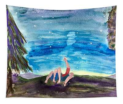 Couple Star Gazing Tapestry