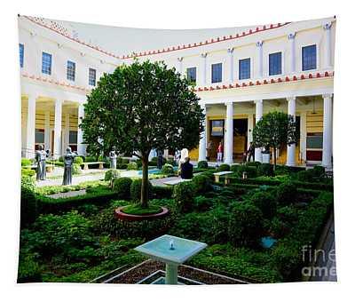 Courtyard Exterior Jpaul Getty Villa Malibu Santa Monica  Tapestry