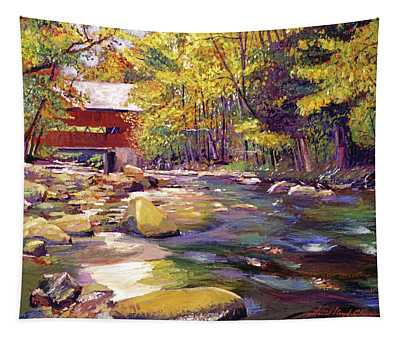 Covered Bridge In Vermont Autumn Tapestry