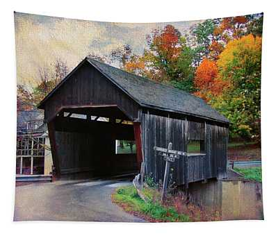Covered Bridge Road Warren Vermont Tapestry