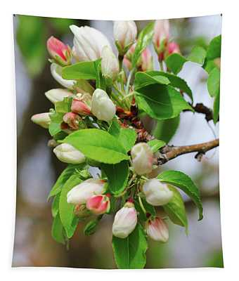 Crabapple Blossom Pink Tapestry