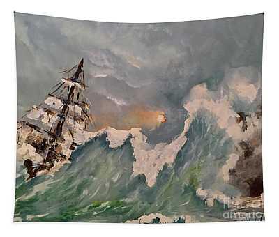 Crashing Waves Tapestry