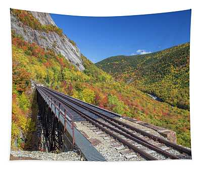 Crawford Notch Autumn Trestle Tapestry