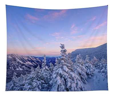 Crawford Notch Winter View. Tapestry