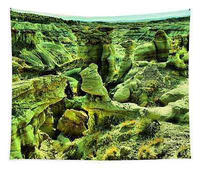 Crazy Bisti Badlands Rock Formation Tapestry