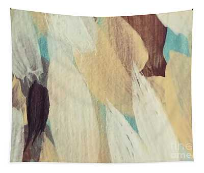 Tapestry featuring the painting Cream #1 by Maria Langgle