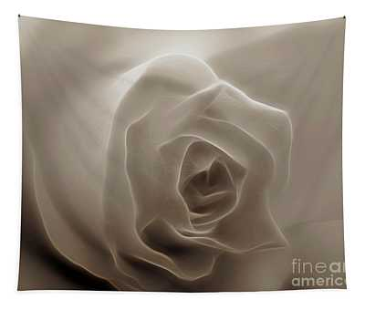 Tapestry featuring the photograph Cream Rose Highlights by Patti Whitten