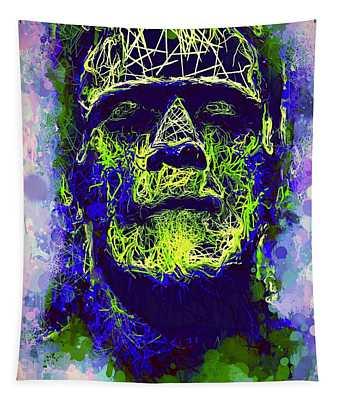 Frankenstein Watercolor Tapestry