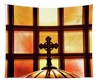 Cross And Light Tapestry