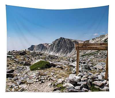 Crossroads At Medicine Bow Peak Tapestry
