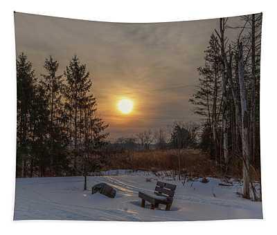 Sunrise At Crossroads Tapestry