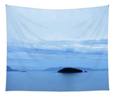 Cruising Alaska In The Blue Hour Tapestry