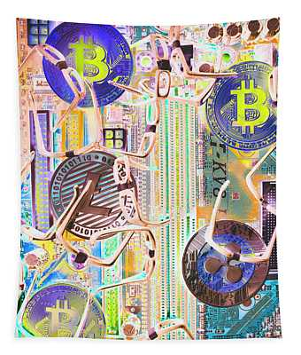 Cryptocurrency Circuitry Tapestry