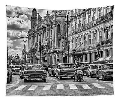Cuba Traffic Tapestry