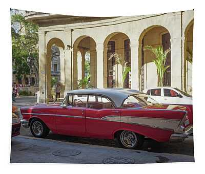 Cuban Chevy Bel Air Tapestry