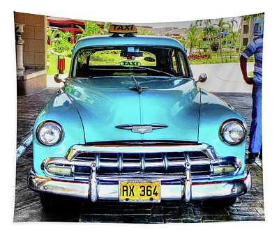 Cuban Taxi Tapestry