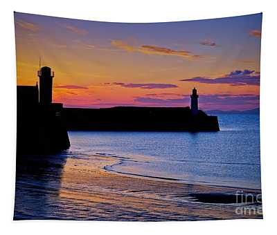 Cumbrian Sunset At Whitehaven Tapestry