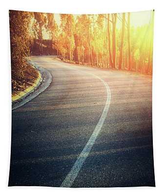Curvy Road Tapestry