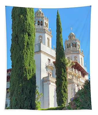 Cypress Trees At Hearst Castle Tapestry