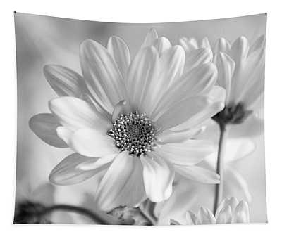 Daisies In Black And White Tapestry